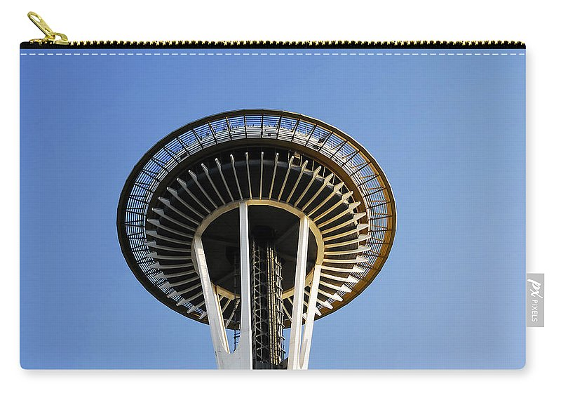 Space Needle Carry-all Pouch featuring the photograph Space Needle by David Lee Thompson