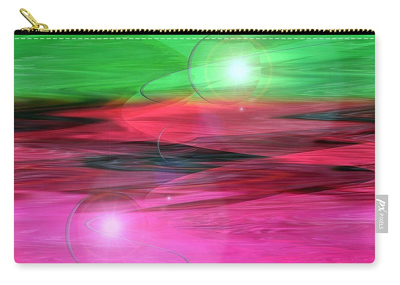 Space Art Carry-all Pouch featuring the digital art Space Oddity by Linda Sannuti