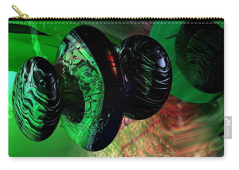 Space Art Carry-all Pouch featuring the digital art Space Reflections by David Lane