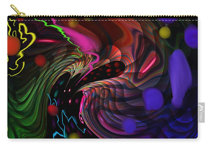 Outer Space Carry-all Pouch featuring the painting Space Rocks by Kevin Caudill