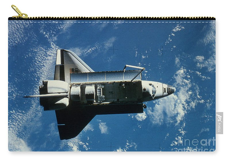Challenger Carry-all Pouch featuring the photograph Space Shuttle Challenger by Granger