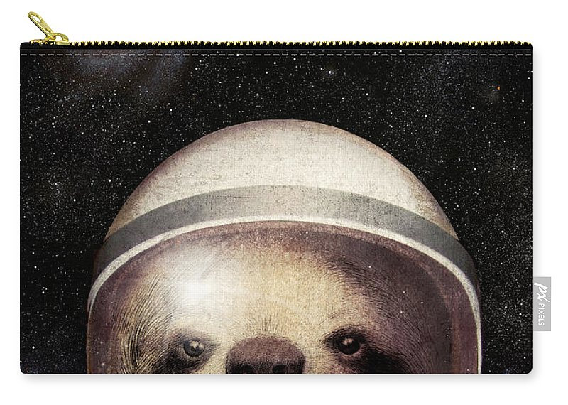 Sloth Carry-all Pouch featuring the drawing Space Sloth by Eric Fan