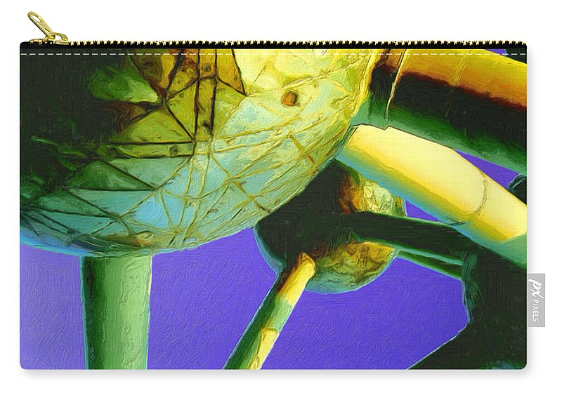 Space Station Carry-all Pouch featuring the painting Space Station by Dominic Piperata