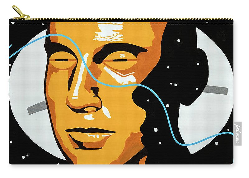Abstract Carry-all Pouch featuring the painting Space Time by Joe Ciccarone