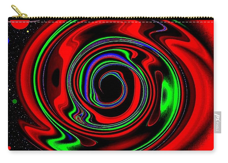 Abstract Carry-all Pouch featuring the digital art Space Twister by Will Borden