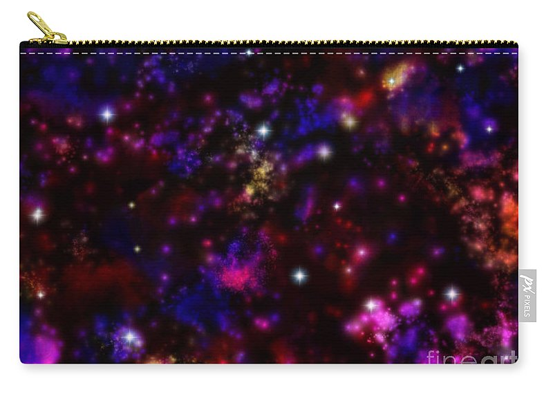 Space Carry-all Pouch featuring the painting Space Walk Fantasy by Roxy Riou