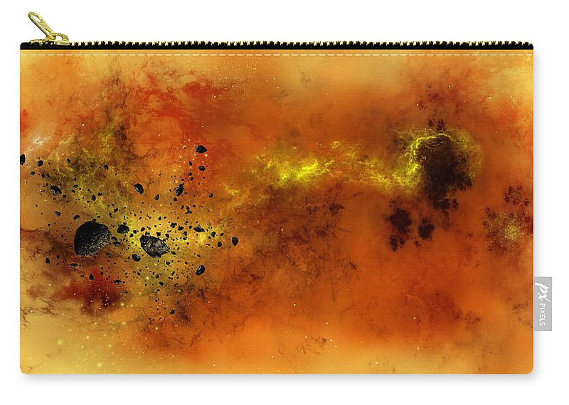 Abstract Carry-all Pouch featuring the digital art Space012 by Svetlana Sewell