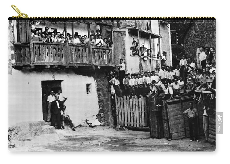 20th Century Carry-all Pouch featuring the photograph Spain: Bullfight by Granger