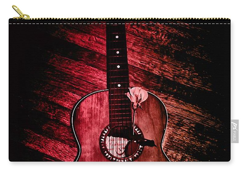Spanish Guitar Carry-all Pouch featuring the photograph Spanish Guitar by Bill Cannon