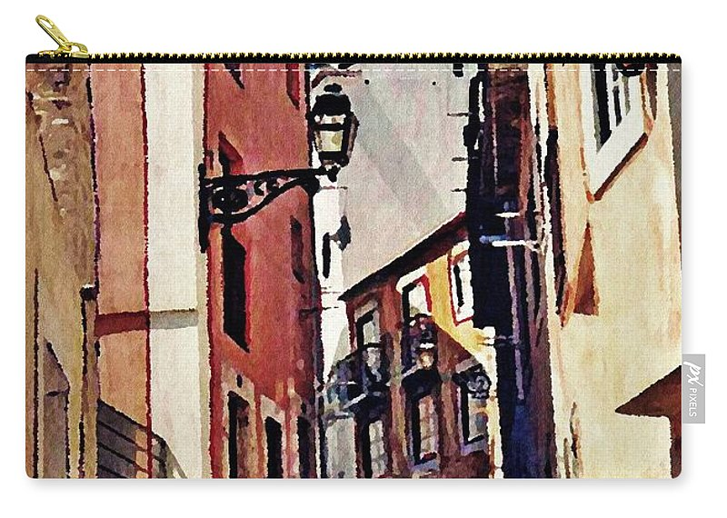 Street Carry-all Pouch featuring the photograph Spanish Town by Sarah Loft