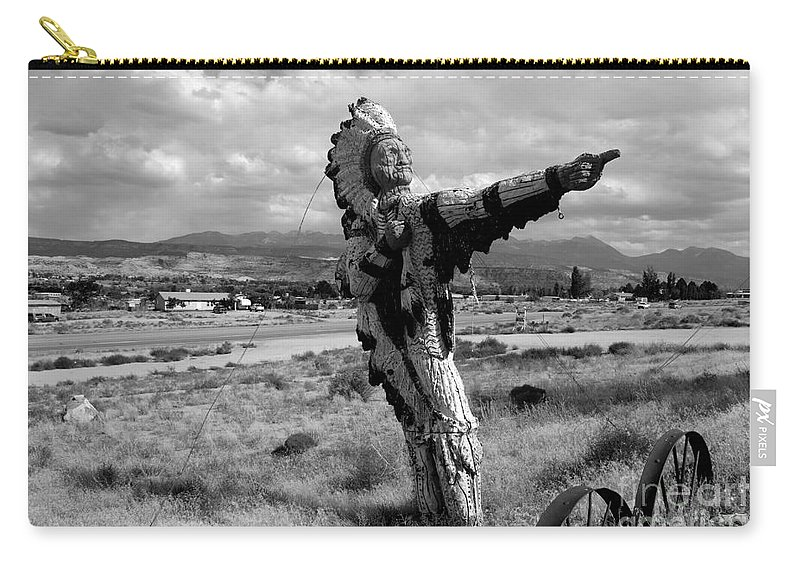 Moab Utah Carry-all Pouch featuring the photograph Spanish Valley Indian by David Lee Thompson