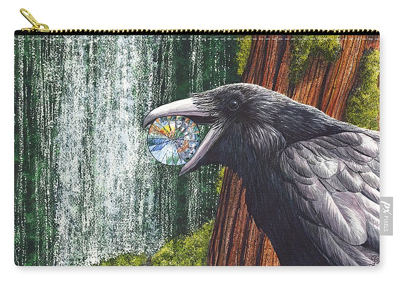 Raven Carry-all Pouch featuring the painting Sparkle by Catherine G McElroy