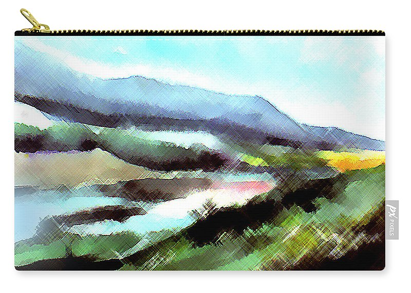 Digital Art Carry-all Pouch featuring the painting Sparkling by Anil Nene