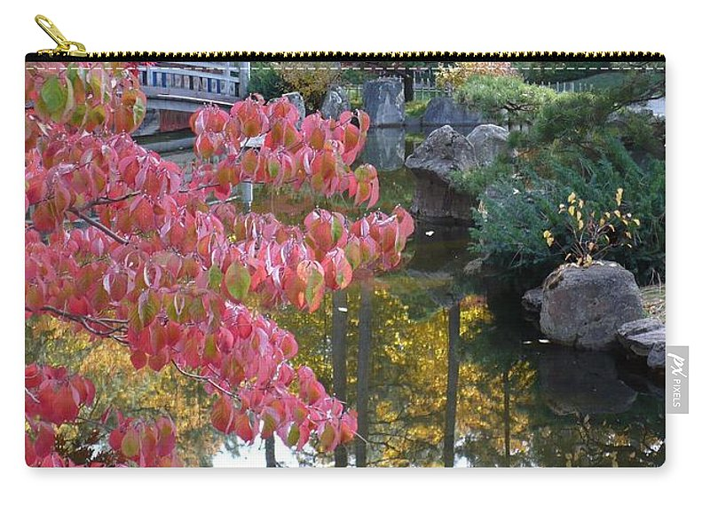 Fall Carry-all Pouch featuring the photograph Sparkling Autumn Reflection by Carol Groenen