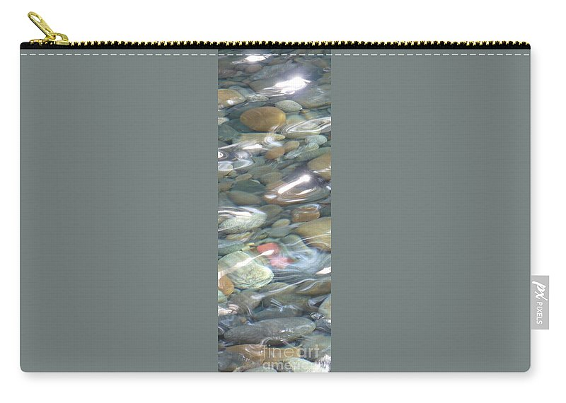 Sparkling Water Carry-all Pouch featuring the photograph Sparkling Water On Rocky Creek 2 by Carol Groenen