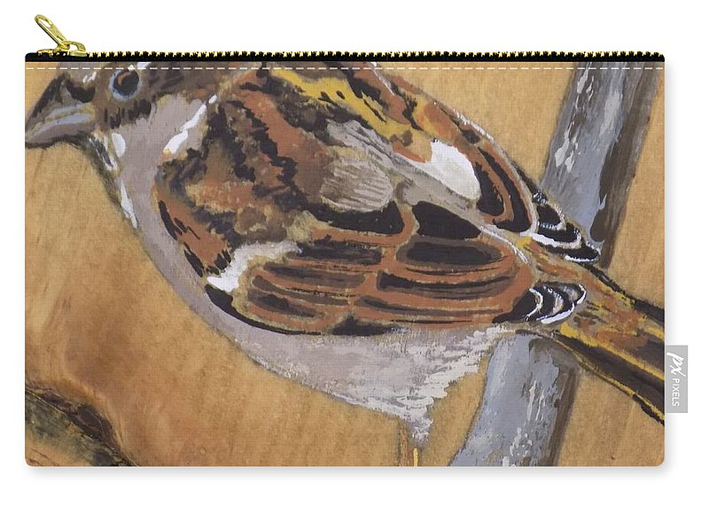 Bird Carry-all Pouch featuring the painting Sparrow 1 by Paul Bashore