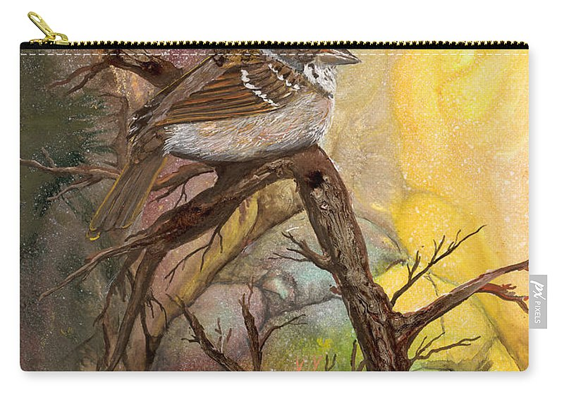 Bird Carry-all Pouch featuring the painting Sparrow by Sherry Shipley