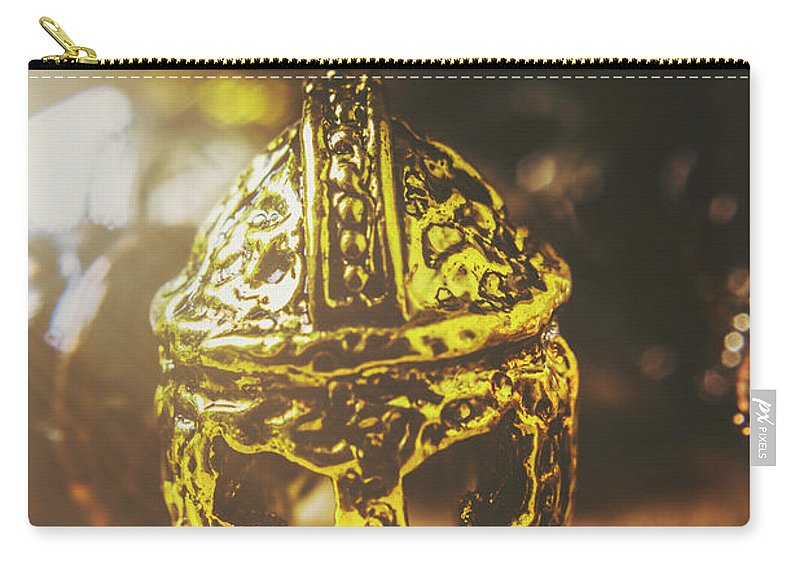 Military Carry-all Pouch featuring the photograph Spartan Military Helmet by Jorgo Photography - Wall Art Gallery