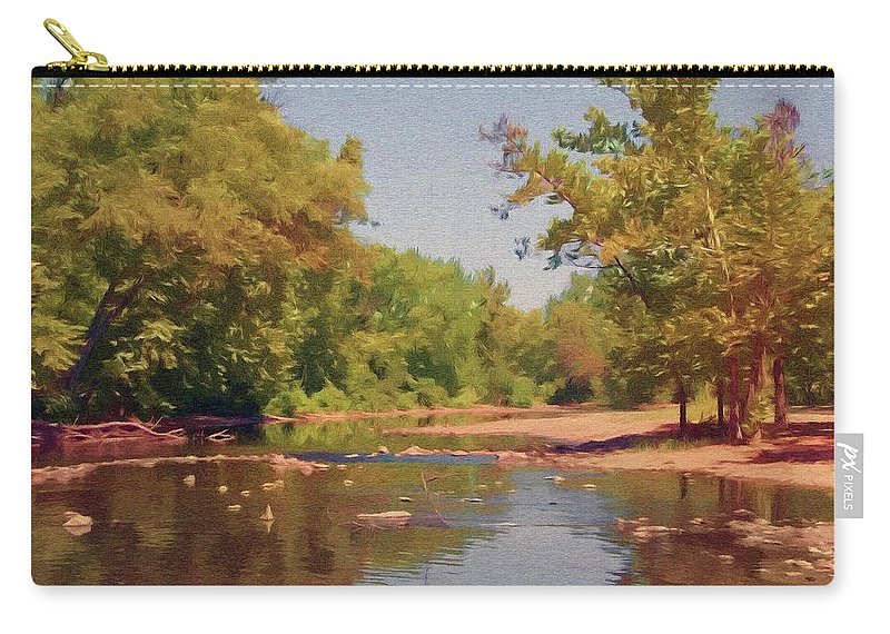 Creek Carry-all Pouch featuring the painting Spavinaw Creek by Jeffrey Kolker