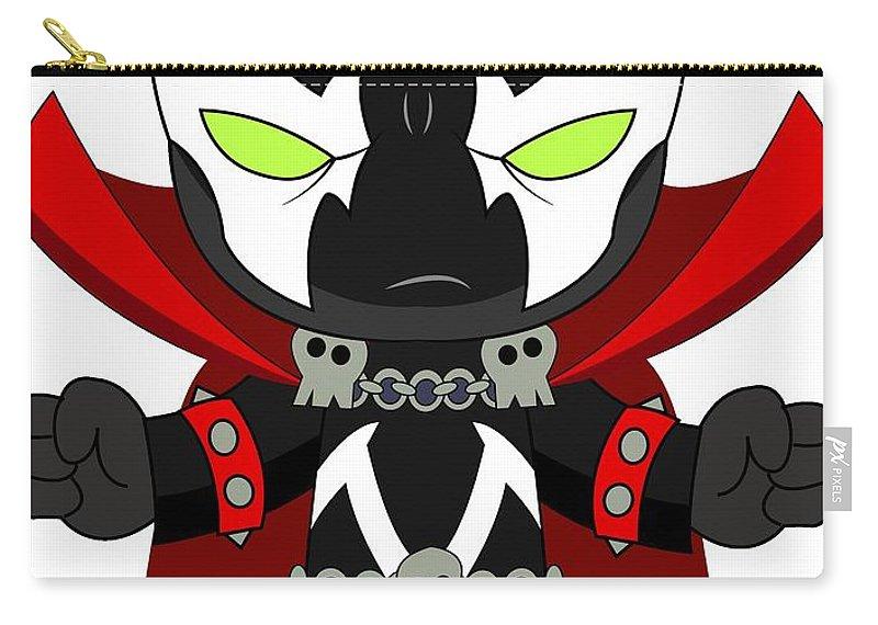 Cartoon Carry-all Pouch featuring the digital art Spawn Supervillain by Anoop D Kulkarni