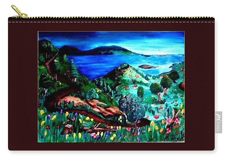 Landscape Carry-all Pouch featuring the painting Special Land by Andrew Johnson