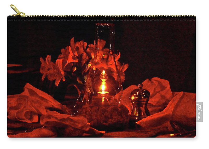 Candle Carry-all Pouch featuring the photograph Special Occasion by Diana Hatcher