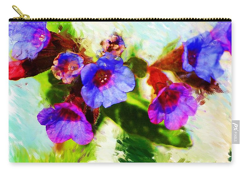 Abstract Carry-all Pouch featuring the photograph Speckled Trout The Flower by David Lane