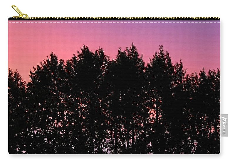 Silhouette Carry-all Pouch featuring the photograph Spectacular Silhouette by Will Borden