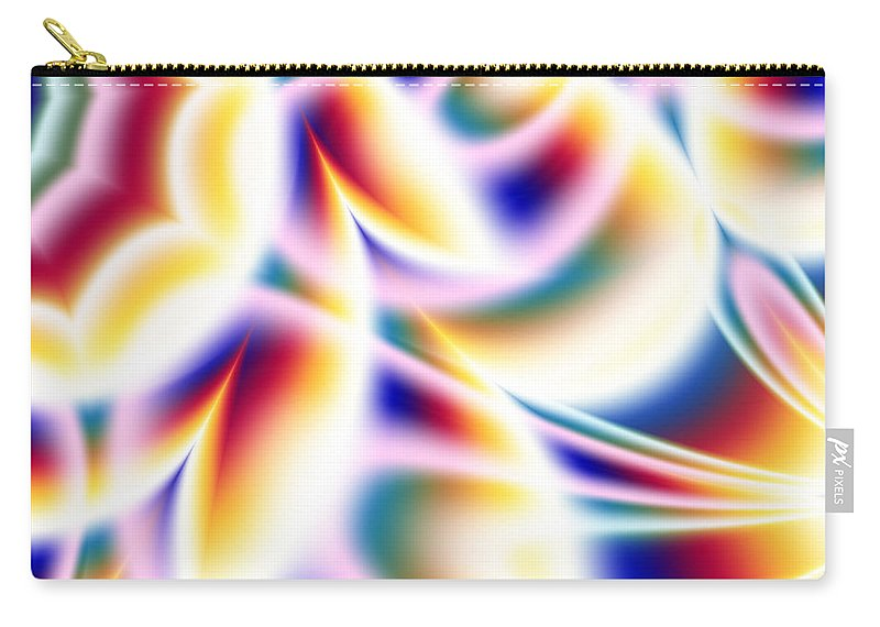 Art Carry-all Pouch featuring the digital art Spectrum by Candice Danielle Hughes
