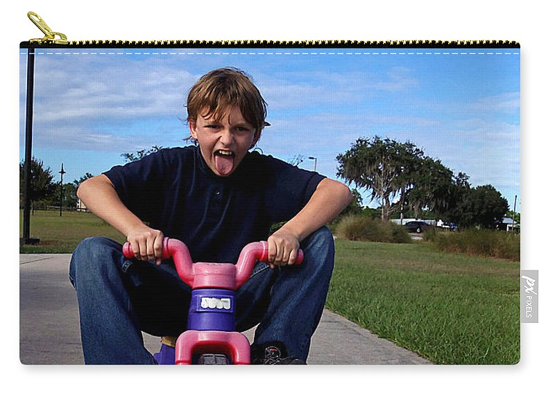 Kid's Games Carry-all Pouch featuring the photograph Speed Racer by Chris Mercer