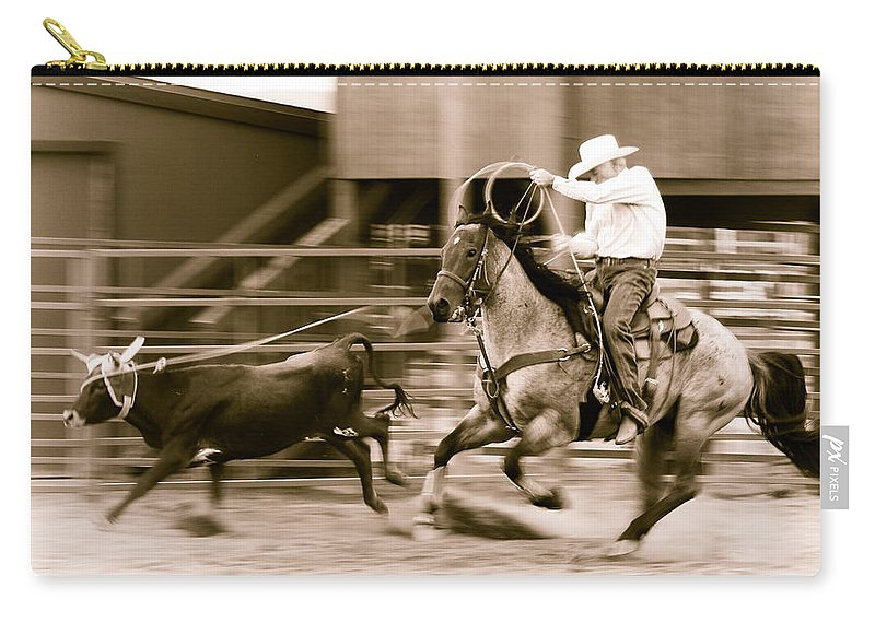 Rodeo Carry-all Pouch featuring the photograph Speed by Scott Sawyer