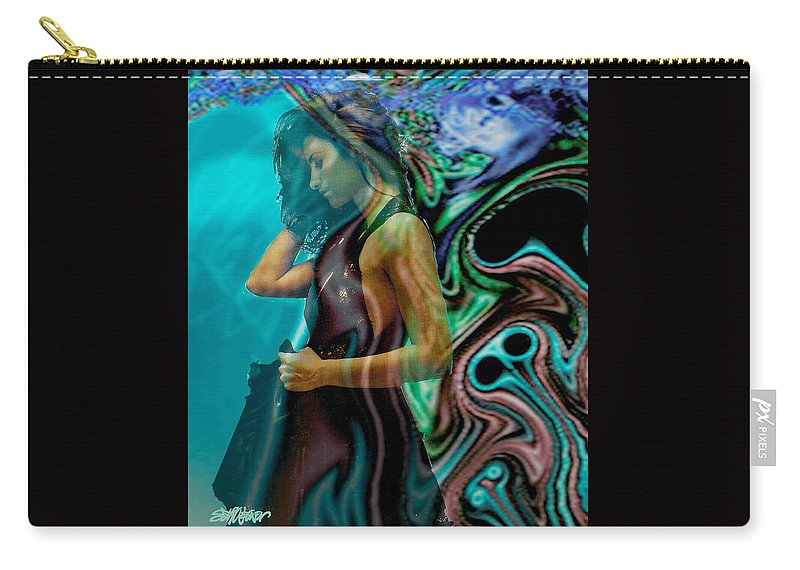 Beautiful Women Carry-all Pouch featuring the digital art Spell of a Woman by Seth Weaver