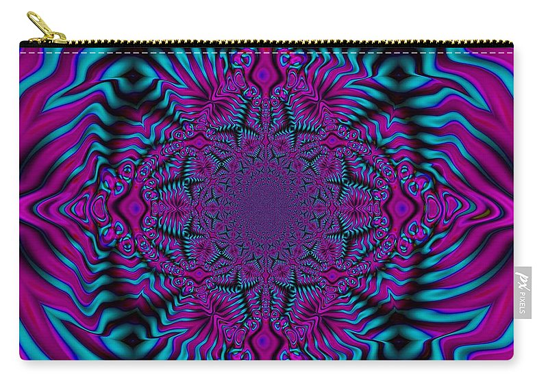 Abstract Design Carry-all Pouch featuring the digital art Spellbound - Abstract Art by Kathleen Sartoris