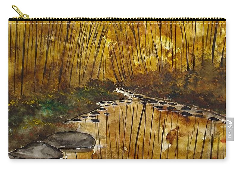 Landscape Carry-all Pouch featuring the painting Spending Time by Lisa Aerts