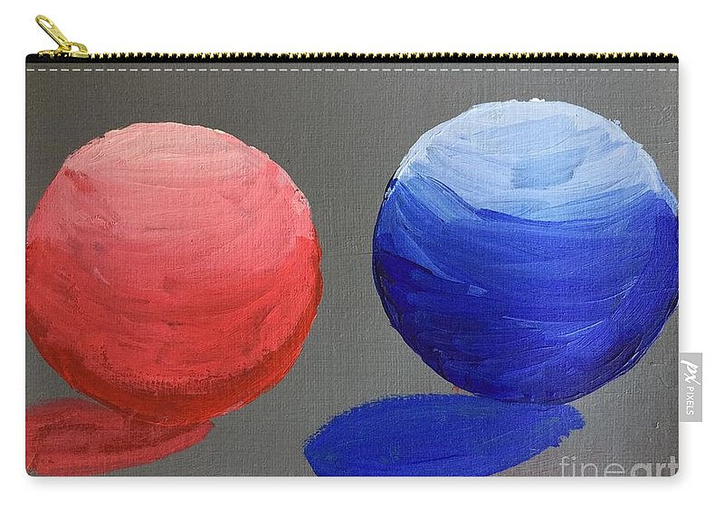 Balls Carry-all Pouch featuring the painting Spherical by Rebecca Snowball
