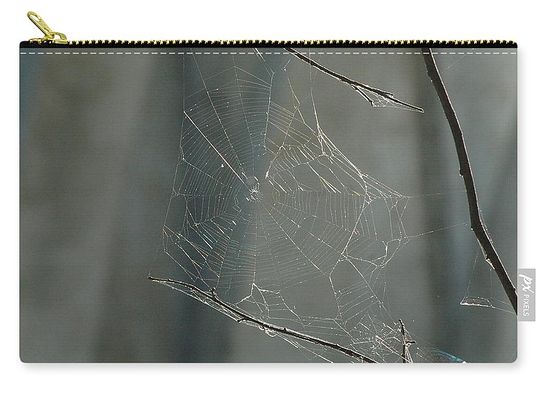 Spider Web Carry-all Pouch featuring the photograph Spider Art by Trish Hale