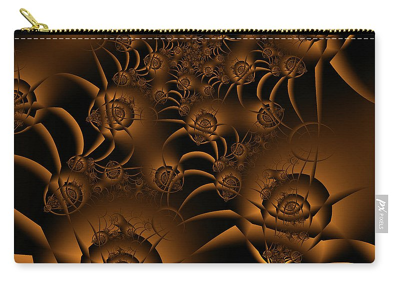 Fractal Carry-all Pouch featuring the digital art Spiders by Debra Martelli