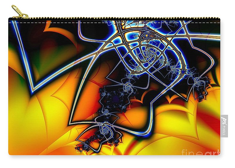 Spider Carry-all Pouch featuring the digital art Spiders Lair by Ron Bissett