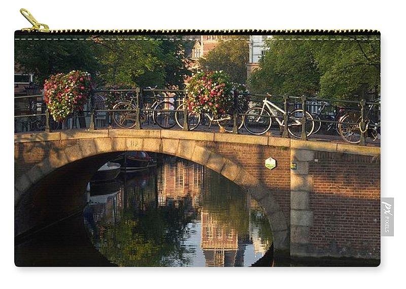Amsterdam Carry-all Pouch featuring the photograph Spiegelgracht Canal In Amsterdam. Netherlands. Europe by Bernard Jaubert