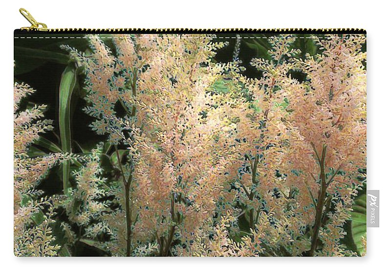 Astilbe Carry-all Pouch featuring the painting Spikes Sunkissed by RC deWinter