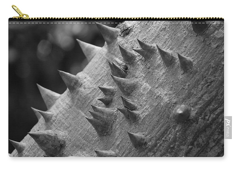 Spike Carry-all Pouch featuring the photograph Spikey Thorny Tree by Rob Hans