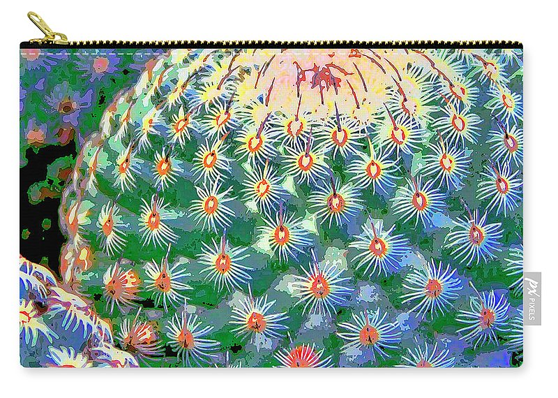 Cactus Carry-all Pouch featuring the mixed media Spiral Galaxy by Dominic Piperata