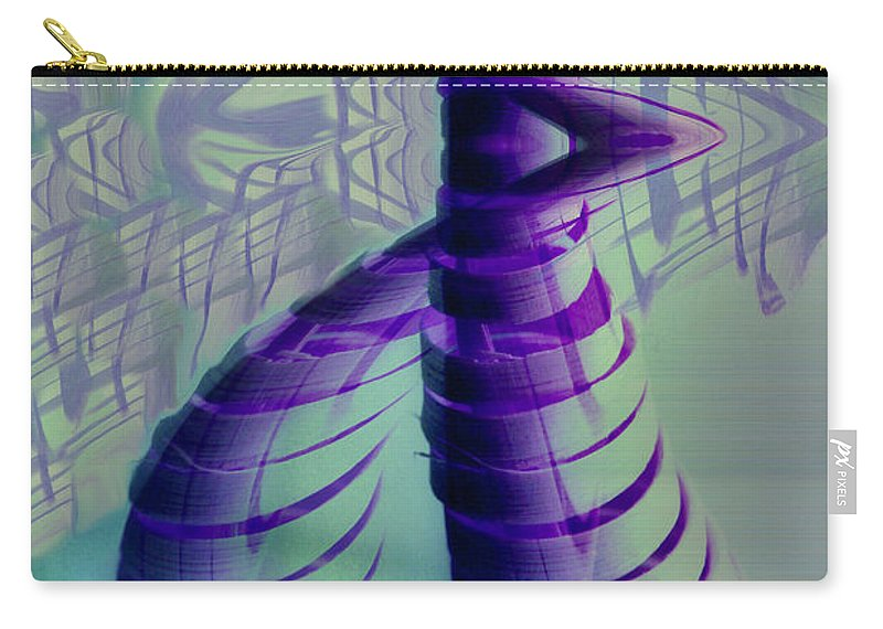 Abstract Art Carry-all Pouch featuring the digital art Spiral by Linda Sannuti