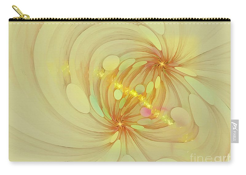 Fractal Carry-all Pouch featuring the digital art Spiral Mind Connection by Deborah Benoit
