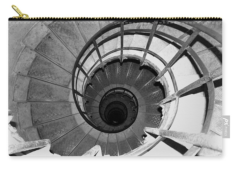 Spiral Staircase Carry-all Pouch featuring the photograph Spiral Staircase At The Arc by Donna Corless