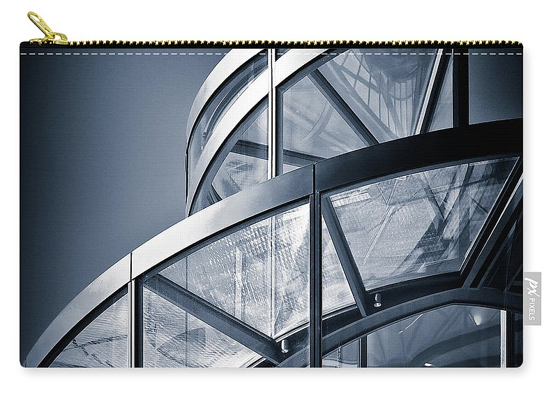 Spiral Carry-all Pouch featuring the photograph Spiral Staircase by Dave Bowman