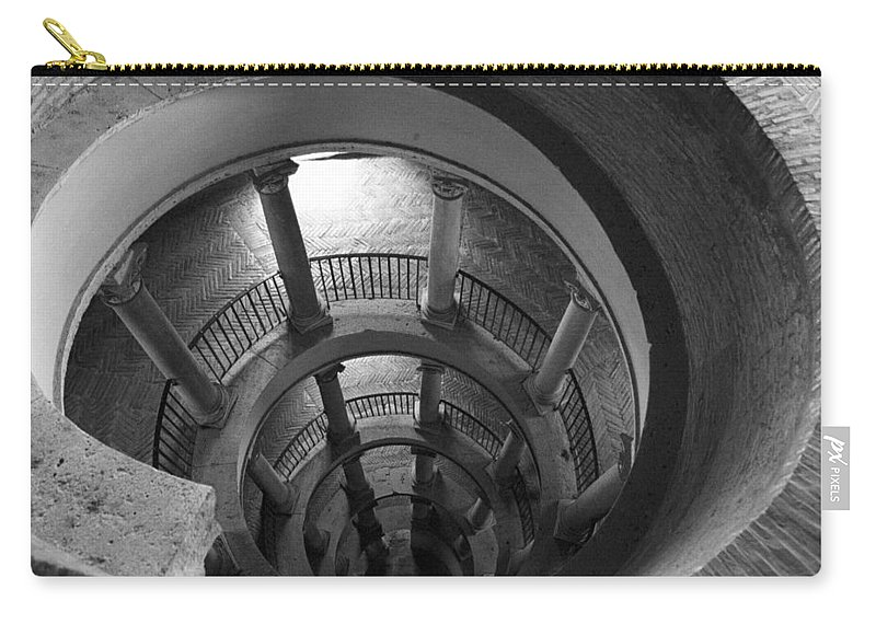 Spiral Staircase Carry-all Pouch featuring the photograph Spiral Staircase by Donna Corless