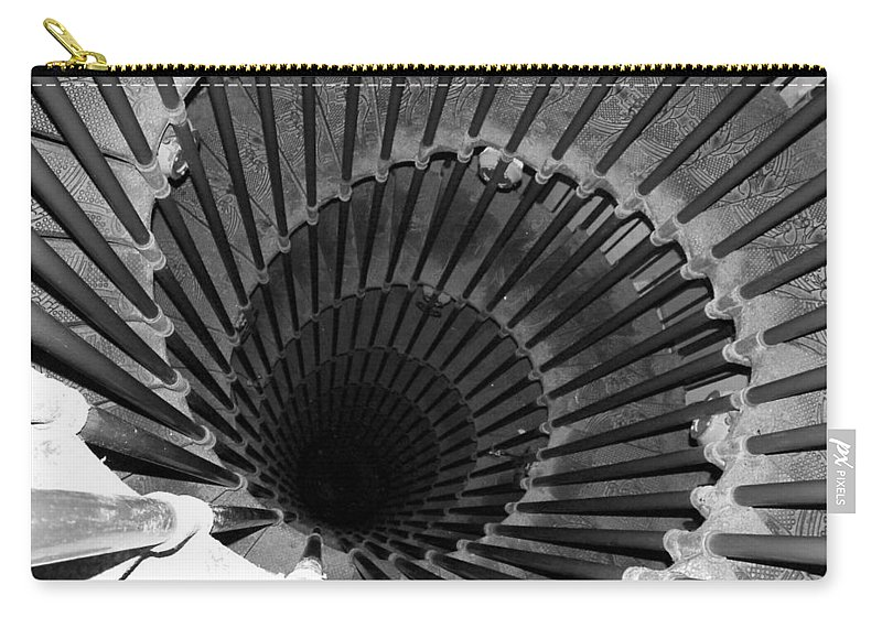 Spiral Staircase Carry-all Pouch featuring the photograph Spiral Staircase In Lublijana by Donna Corless