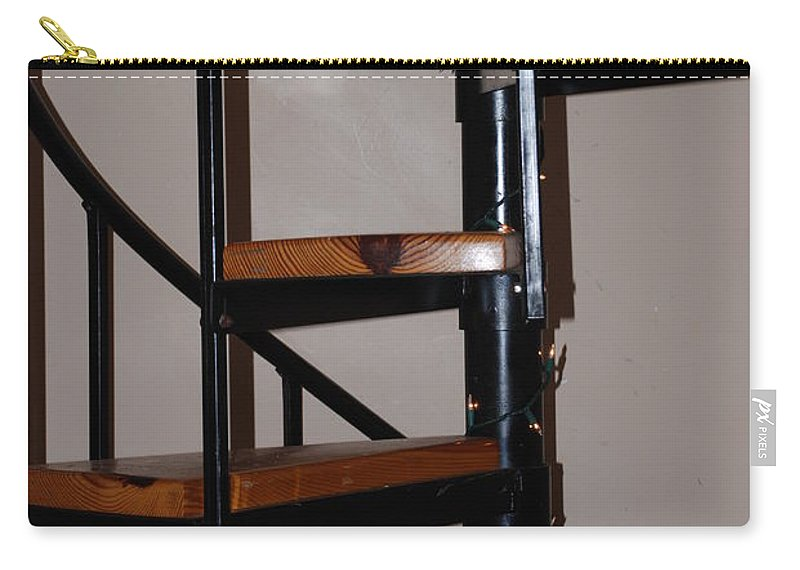 Stairs Carry-all Pouch featuring the photograph Spiral Stairs by Rob Hans
