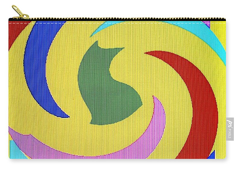 Abstract Carry-all Pouch featuring the digital art Spiral Three by Ian MacDonald